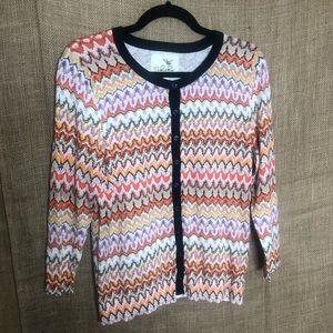Tabitha Chevron Sweater L Ladies Long Sleeve Knit